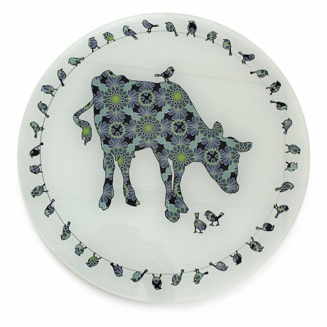 Jersey Pottery Bessie and Lily Glass Platter - 12""