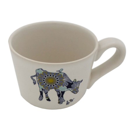 Jersey Pottery Bessie and Lily Ceramic Espresso Cup - 4 fl.oz.