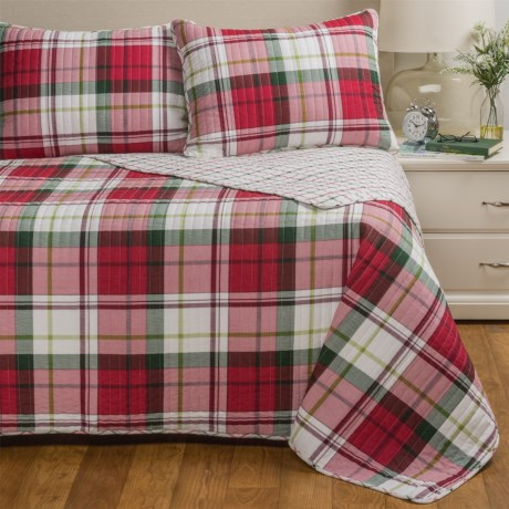 Max Studio Holiday Plaid Quilt Set - Twin