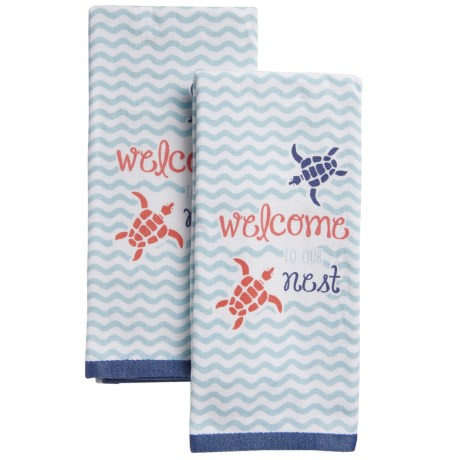 EnVogue Welcome to Our Nest Terry-Knit Kitchen Towels - Set of 2