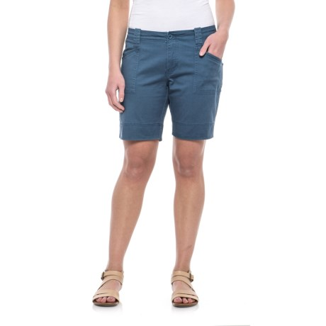North River Stretch Cotton Twill Shorts (For Women)