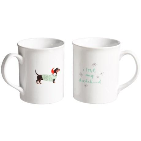 Fringe Studio Holiday Porcelain Mugs - 12 fl.oz., 2-Pack