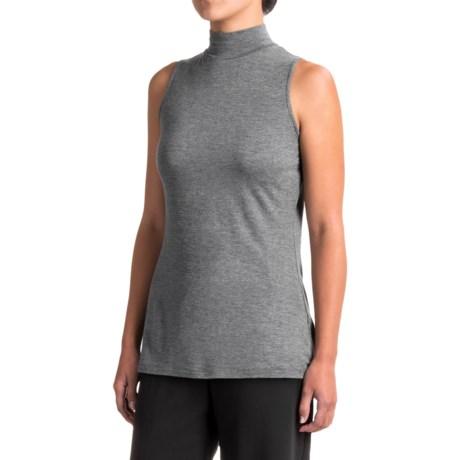 Kensie Mock Neck Knit Shirt - Sleeveless (For Women)
