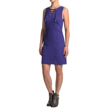 Kensie Laced-Neck Dress - Sleeveless (For Women)
