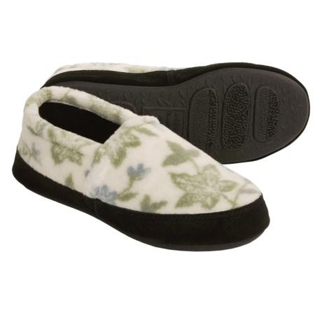 Acorn Textured Moc Slippers - Fleece (For Women)