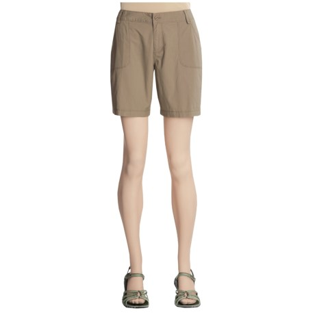White Sierra Lodato Shorts - Stretch Cotton Poplin (For Women)