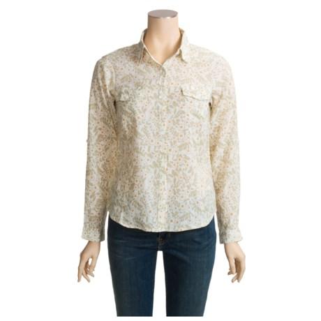 White Sierra Whitney Shirt - Cotton Gauze, Long Sleeve (For Women)