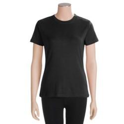 White Sierra Rib-Knit T-Shirt - Short Sleeve (For Women)