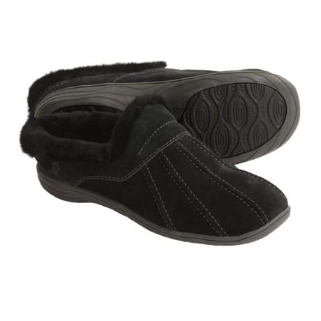 Acorn Vesta Suede Mule Slippers - Sheepskin Lining (For Women)