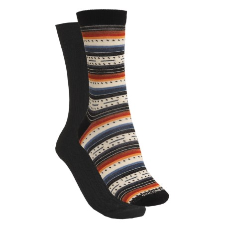 Goodhew Basic Crew Socks - Wool-Rich, 2-Pack (For Women)