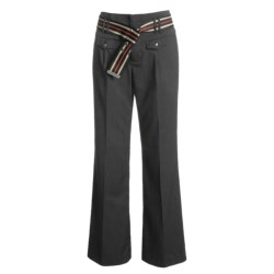 Infantry Division Cavalry Twill Pants - Striped Web Belt (For Women)