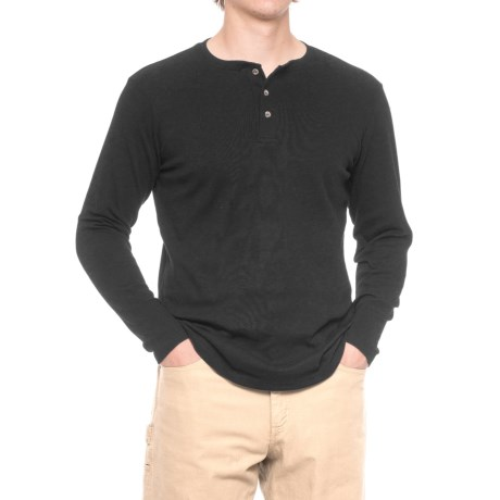 North Canyon Traders Solid Henley Shirt - Long Sleeve (For Men)