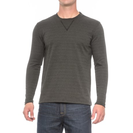 North Canyon Traders Herringbone Crew Shirt - Long Sleeve (For Men)
