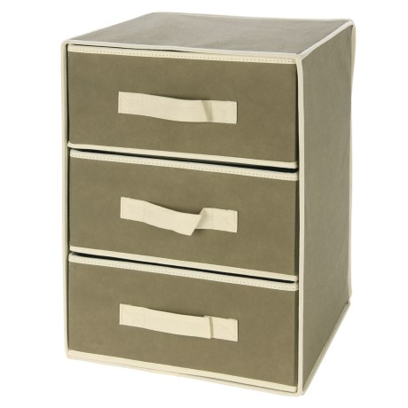 Diamond Home 3-Tier Collapsible Storage Drawers - 12x12x17""
