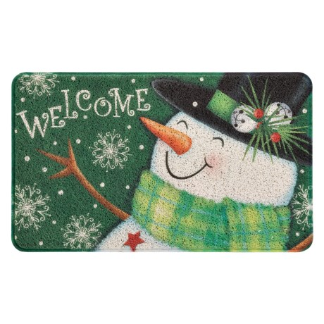 """Evergreen Holiday Trapper Doormat - 18x30"""""""