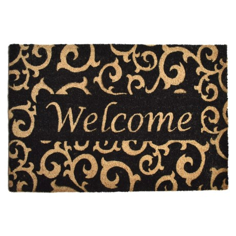 Home and More Coir Welcome Doormat - 24x36""