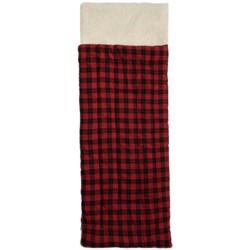 Rugged Bear Flannel Sleeping Bag - Fleece Lined (For Kids)