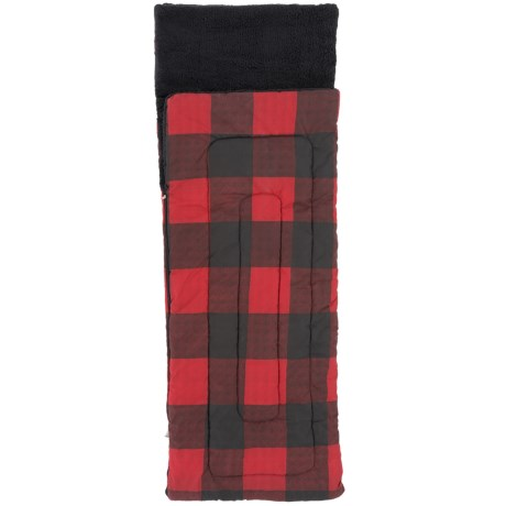 Queenwest Trading Co. Gingham Flannel Sleeping Bag - Fleece Lined (For Kids)