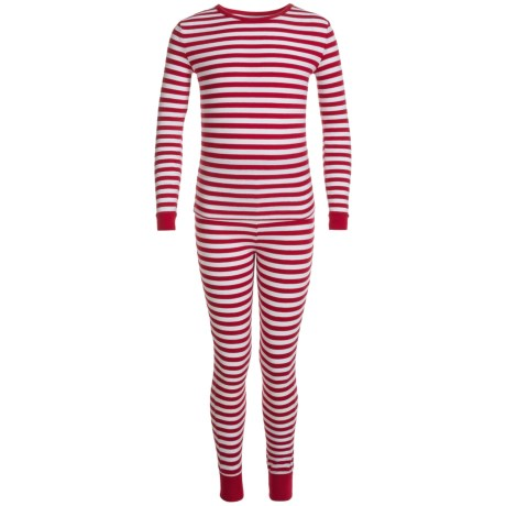 Isaac Mizrahi Weekend Stripe Pajamas - Long Sleeve (For Big Kids)
