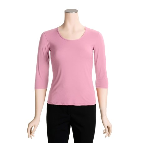 Adea Scoop Neck Shirt - UPF 75, 3/4 Sleeve (For Women)