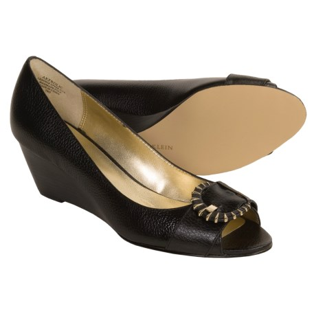 Anne Klein Frolic Shoes - Wedge Heel, Peep Toe (For Women)