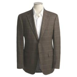 Isaia Wool Herringbone Sport Coat - Subtle Windowpane (For Men)