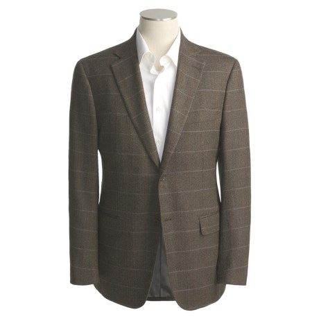 Isaia Wool Herringbone Sport Coat - Subtle Windowpane (For Men)