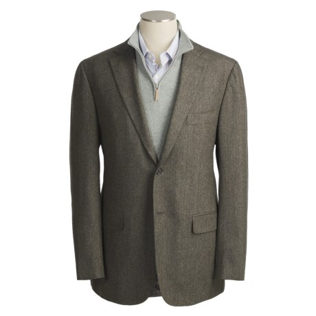 Isaia Herringbone Sport Coat - Wool (For Men)