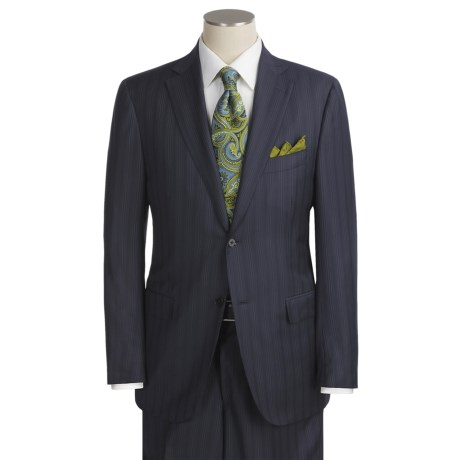 Isaia Multi-Stripe Suit - Wool (For Men)