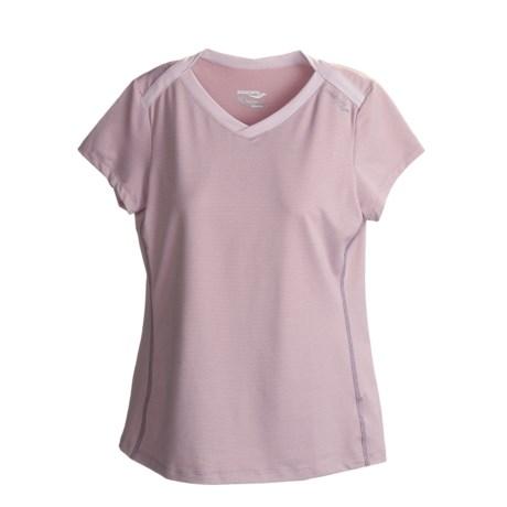 Saucony Micro Melange Shirt - V-Neck, Short Sleeve (For Women)
