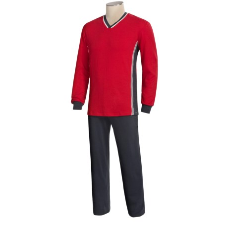Calida Thema Hero Pajamas - Heavy Cotton Interlock, Long Sleeve (For Men)