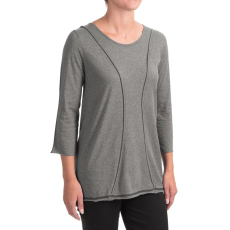 Indigenous Organic Cotton A-Line Shirt - 3/4 Sleeve (For Women)