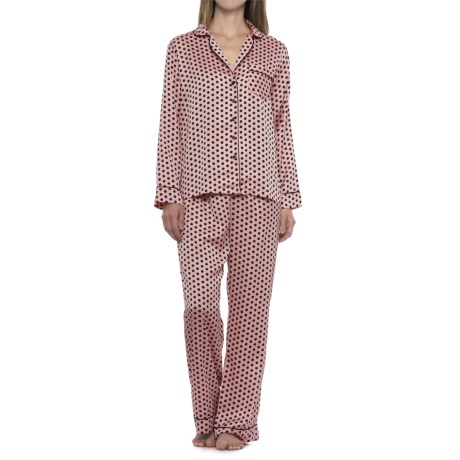 Tahari Polka-Dot Pajamas - Long Sleeve (For Women)
