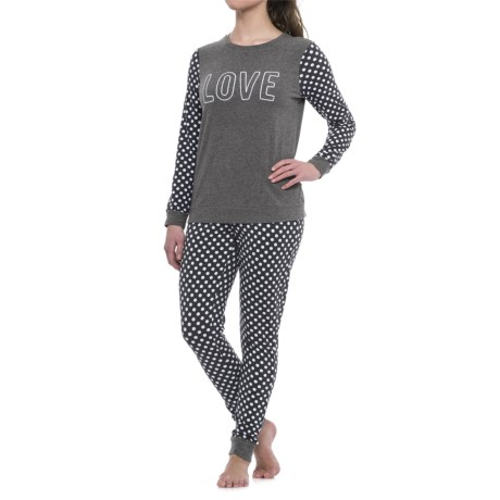 Isaac Mizrahi Love Shirt and Printed Leggings Pajamas - Boxed Gift Set, Long Sleeve (For Women)