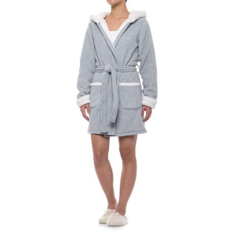 Artisan NY Sleepwear Bear Robe with Santa Hat Hood - Long Sleeve (For Women)
