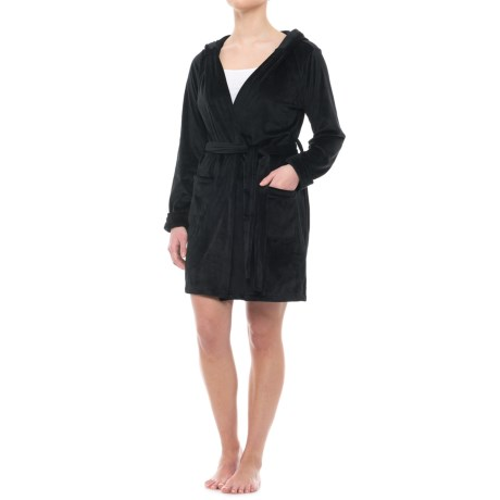 Tahari Plush Robe with Pockets - Hooded, Long Sleeve (For Women)