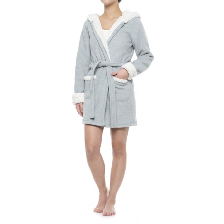 Artisan NY Bear Hooded Robe - Long Sleeve (For Women)