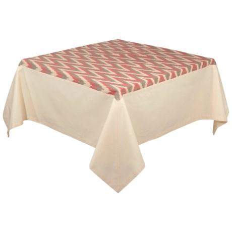 Stitch & Shuttle Tradewinds Ikat Tablecloth - 60x108""