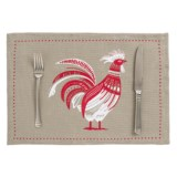 Now Designs Burlap Rooster Placemat