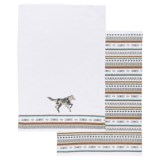 Danica Studio Saddle Up Kitchen Towels - Set of 2