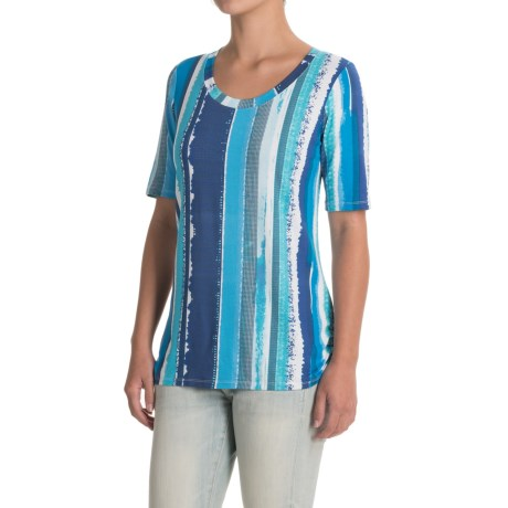 FDJ French Dressing Grid-Stripe Shirt - Short Sleeve (For Women)
