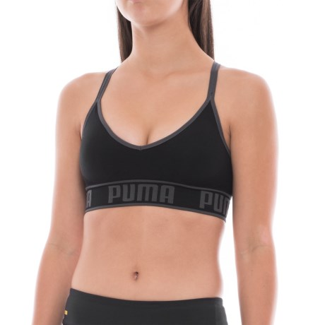 Puma Strappy-Back Sports Bra - Low Impact, Removable Cups (For Women)