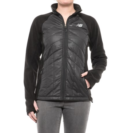 New Balance Hybrid Fleece Quilted Jacket (For Women)