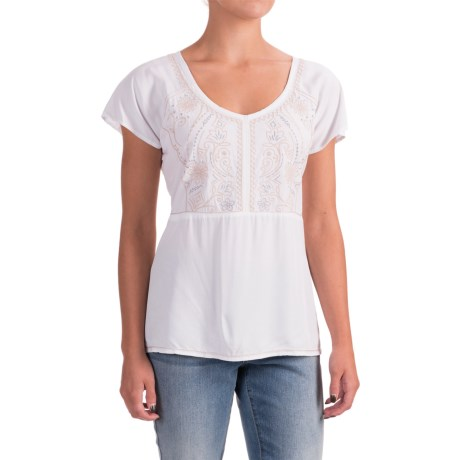 Nomadic Traders NTCO Lucia Embroidered Shirt - Short Sleeve (For Women)