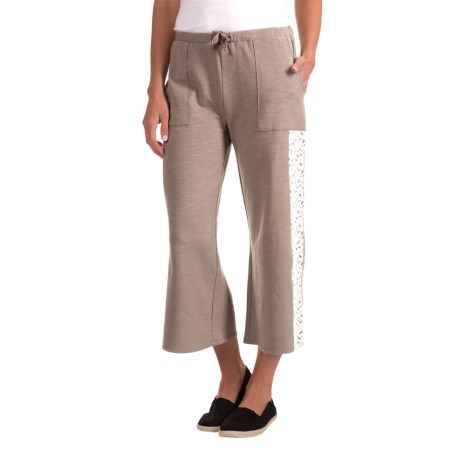 Nomadic Traders Apropos Fleurs De Lace Cotton Pants (For Women)