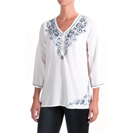 Nomadic Traders Fresco Delfina Shirt - 3/4 Sleeve (For Women)