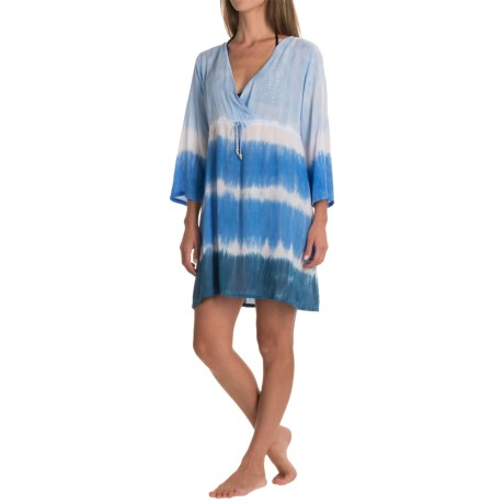 Nomadic Traders Here Comes the Sun Cover-Up Dress - 3/4 Sleeve (For Women)