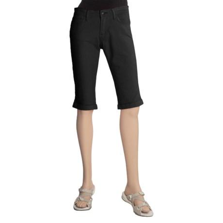 Stretch Twill Shorts - Cuffed (For Women)