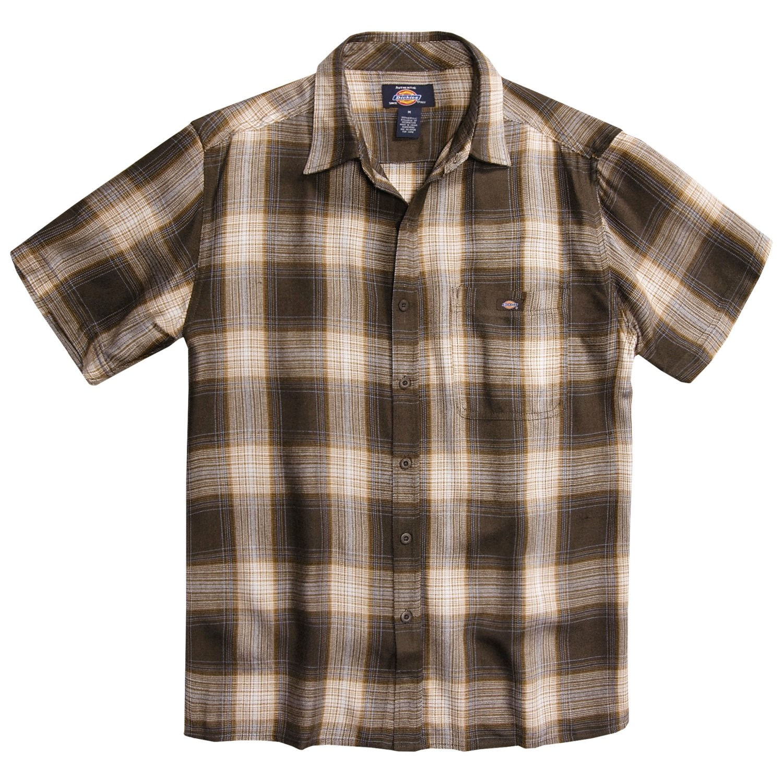 Dickies plaid shirt for men 2854j save 51 for Dickies short sleeve plaid shirt