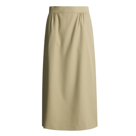 Hawksley & Wight Wool Gabardine Skirt (For Women)